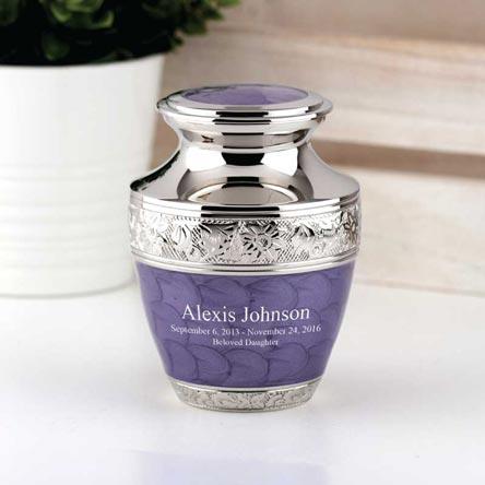 Small Lavender Bloom Cremation Urn