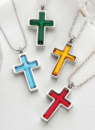 Vitrum Cross Cremation Jewelry